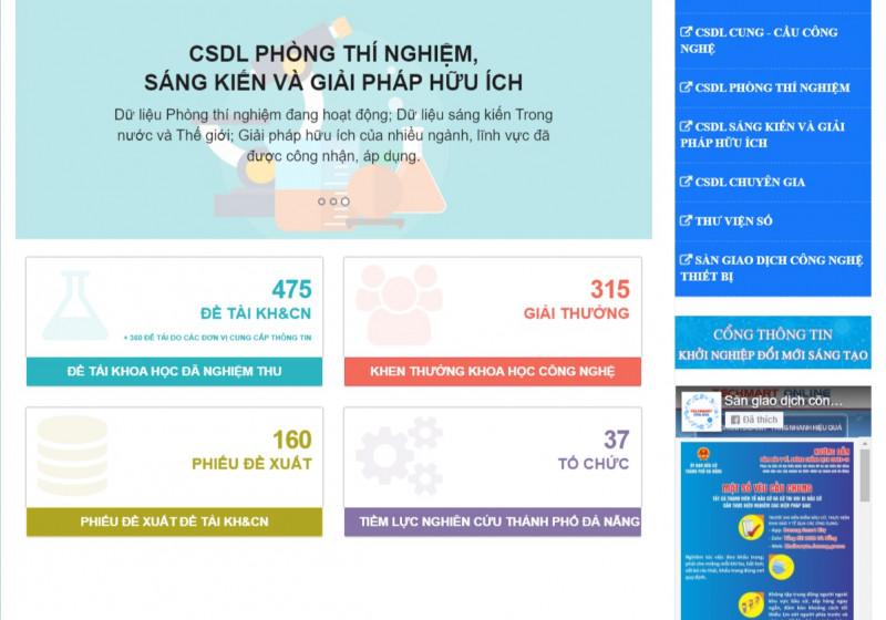 Giới thiệu về các cơ sở dữ liệu của Trung tâm Hỗ trợ khởi nghiệp đổi mới sáng tạo Đà Nẵng