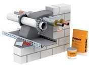 Vữa chống ngăn cháy lan. System deion, PYROMIX® mortar insulation - OBO