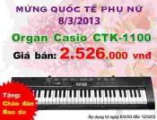 Đàn Organ Casio CTK1100
