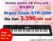 Đàn Organ Casio CTK3200