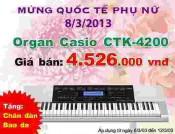 Đàn Organ Casio CTK4200