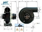 Quạt Hút Cho Tủ Hút khí độc Tủ Hút hóa chất Phòng thí nghiệm - Seat Exhaust Fans