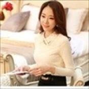 AD0078-32: Áo ren dài tay xinh đẹp