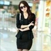 AD0074-29d: Áo khoác len xinh đẹp màu đen