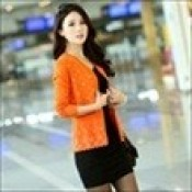 AD0074-29b: Áo khoác len xinh đẹp màu cam