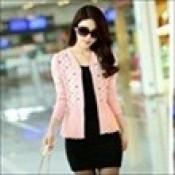 AD0074-29a: Áo khoác len xinh đẹp màu hồng