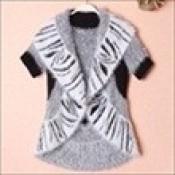 AD0071-37b: Áo khoác len xinh đẹp màu xám trắng