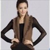 AD0070-44b: Áo khoác len cao cấp không tay cổ vest màu socola