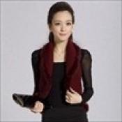 AD0070-44a: Áo khoác len cao cấp không tay cổ vest màu đỏ