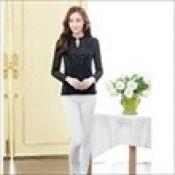 AD0059b-25: Áo ren dài tay xinh đẹp màu đen