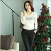 AD0056-25: Áo len dệt kim dài tay xinh đẹp